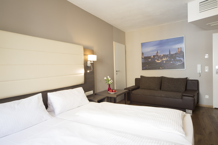 city aparthotel m nchen hotel a monaco di baviera in centro. Black Bedroom Furniture Sets. Home Design Ideas