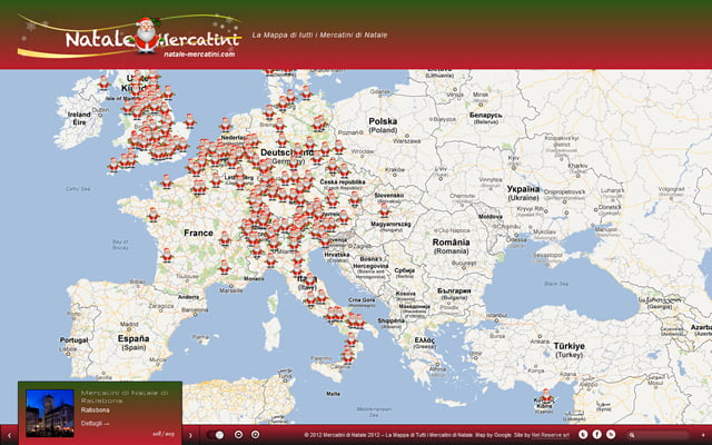 Mappa dei mercatini di natale - Mercatini in veneto ...