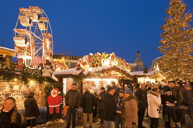Dresda Mercatino di Natale, Striezelmarkt, Foto: Landeshauptstadt Dresden / Sylvio Dittrich