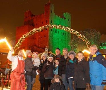 Rochester - Mercato di Natale di Dickens a Rochester Castle 2013