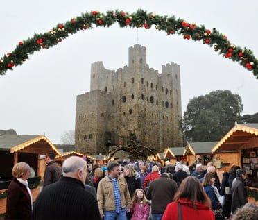 Rochester Castle Mercatini di Natale