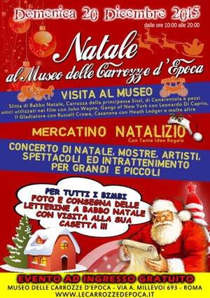 Mercatino di Natale al Museo delle Carrozze d'Epoca a Roma
