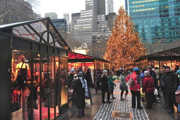 Un Mercatino di Natale a New York