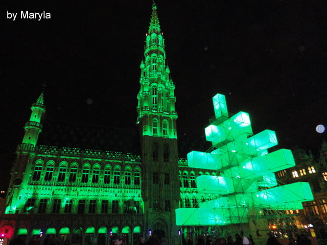 Grand Place e albero di natate
