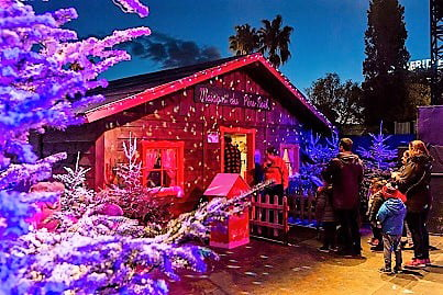 Parco Di Babbo Natale.Mercatini Di Natale Nizza Casa Di Babbo Natale Mercatini Di Natale