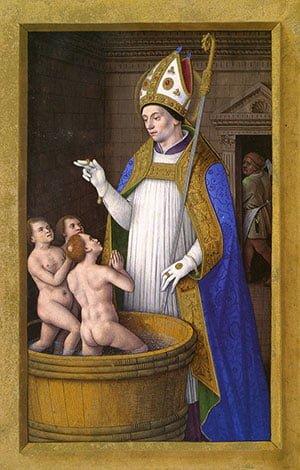 San Nicola iconografia classica con tre bambini nel secchio