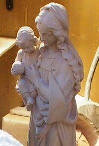 Regali di Natale Statua in legno scolpito